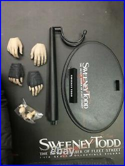 1/6 Hot Toys MMS149 Sweeney Todd Barber Johnny Depp Action Figure & Accessories