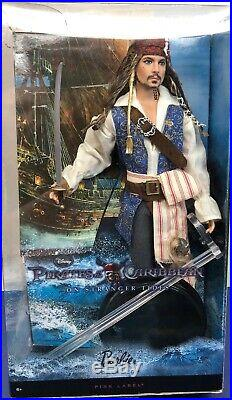 12 Mattel Barbie Doll Pirates Of The Caribbean Jack Sparrow Mint With Box