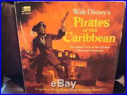 1968 Pirates Of The Caribbean Disney Record Lp & Book Set