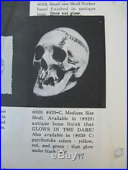 2 Each Vintage Randotti Medium Skulls # 829 Both Still Glows In The Dark