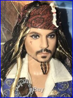 2010 Pirates of the Caribbean Captain Jack Sparrow Barbie Doll T7654 Johnny Depp