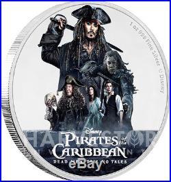 2017 Disney Pirates Of The Caribbean Jack Sparrow 1 Oz Silver Coin Ogp Coa