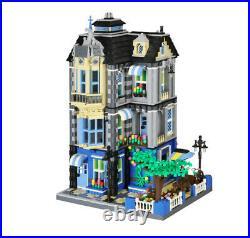 2313PCS City Street Creator Garden Coffee Shop Building Blocks Brick Model Toy