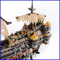 2370pcs Pirates Silent Mary Caribbean Ship Model Building Blocks Bricks