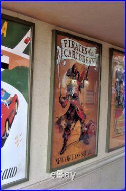 36x54 Poster Pirates of the Caribbean 1967 Rare 50th Disney Gallery Disneyland