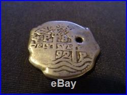 60s Disney Disneyland Pirates of The Caribbean Metal Doubloon Coin Souvenir (D)