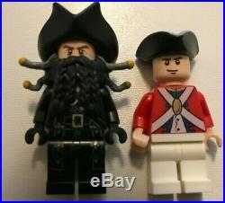8 Lego Minifigures Pirates of the Caribbean Jack Sparrow Blackbeard Mermaid