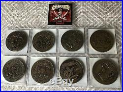 8 Pc Disneyland Pirates of the Caribbean Dead Men Tell No Tales Coin 2006 Lot