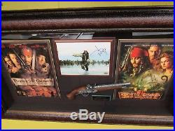 Autographed Johnny Depp Pirates of the Caribbean Shadow Box COA and Movie Prop
