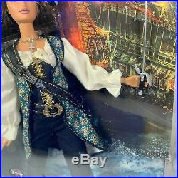 Barbie Angelica Pirates Of The Caribbean 2010 Doll Pink Label Unopened Box Wear