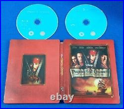 Blu-ray PIRATES OF THE CARIBBEAN x3 x 1 +2 +3 TRILOGY Steelbook Editions ZAVVI