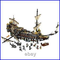 Building Blocks 16042 Pirates Of The Caribbean Bricks Silent Mary Set Ship Model