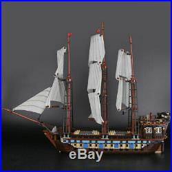 Building Blocks Sets 22001 Pirates Of The Caribbean Battleship Flag Ship Model