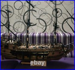 DIY Black Pearl ship Pirates of the Caribbean sailing model kit solid wood set