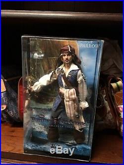 Disney Captain Jack Sparrow Pirates Of The Caribbean Barbie Collectir Pink Label