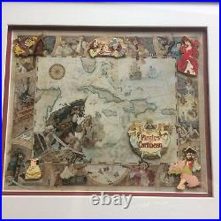 Disney DLR Pirates of the Caribbean Attraction Scene 6 Pin Framed Set