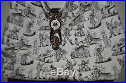 Disney Dooney & Bourke Pirates of the Caribbean Marc Davis Sketch Hobo Tote New