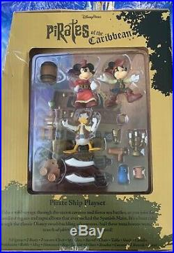 Disney Mickey Mouse Pirates of the Caribbean Pirate Ship Deluxe Play Set New