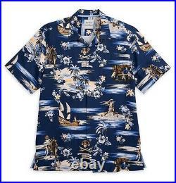 Disney Parks Tommy Bahama Pirates Of The Caribbean Hawaiian Shirt Mens L