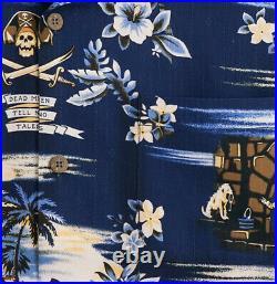 Disney Parks Tommy Bahama Pirates Of The Caribbean Hawaiian Shirt Mens L NEW