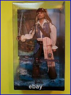 Disney Pirates of the Caribbean Jack Sparrow Barbie Collectr Pink Label Doll NIB