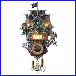 Disney Pirates of the Caribbean Jack Sparrow Cuckoo Clock Bradford Exchange