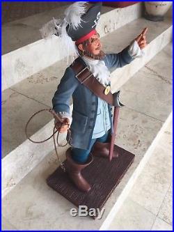 Disney Rare Big Figure Pirates of the Caribbean Auctioneer