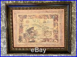 Disneyland Paris Pirates Of The Caribbean Map Art Giclee RARE John Horny 1991
