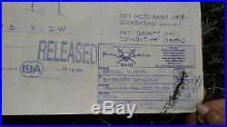 EDINBURGH Pirates of the Caribbean II & III Original Blueprints Movie Set RARE