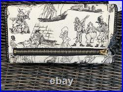 EUC Dooney & Bourke Disney Park Pirates of the Caribbean Checkbook Wallet