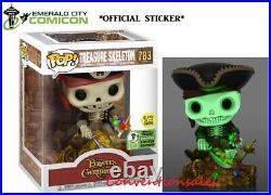 Eccc 2021 Funko Pop! Pirates Of The Caribbean Treasure Skeleton Deluxe (gitd)
