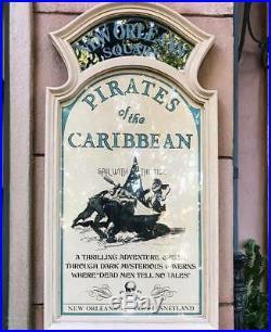 FULL SIZE Pirates of the Caribbean Attraction Sign Prop Disneyland Walt Disney