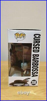 FUNKO POP Pirates of the Caribbean Cursed Barbossa #208 RARE with Pop Protector