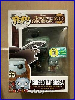 Funko POP Pirates of the Caribbean 208 Convention Exclusive Cursed Barbossa