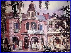Herb Ryman 21x27 Concept Art for New Orleans Square + Pirates of the Caribbean
