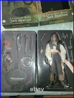 Hot Toys Jack Sparrow Pirates of the Caribbean Deads mans chest 1/6 Rare MMS57