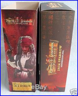 Hot toys Jack Sparrow Pirates of the Caribbean World's End Action Figure Doll