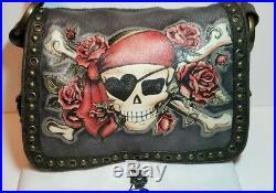 Isabella Fiore Buried Treasure Pirate Jamie Tattoo Shoulder Crossbody Bag $495