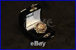 Jack sparrow Brass Flower button Pirate Ring of the caribbean ACME BRAND XCLUSIV