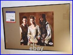 Johnny Depp Orlando Bloom Keira Knightley signed Pirates Caribbean photo PSA DNA