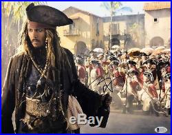 Johnny Depp Signed Pirates Of The Caribbean 11x14 Photo BAS Beckett E49571