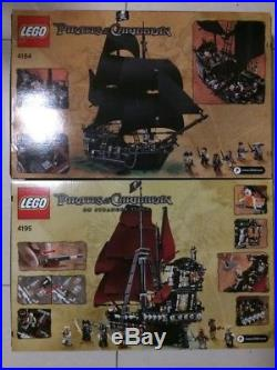 LEGO PIRATES OF THE CARIBBEAN QUEEN ANNE'S REVENGE 4195 and BLACK PEARL 4184