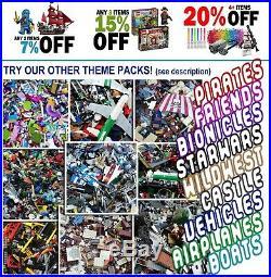 LEGO (x1700pcs) 2KG Pirates Caribbean Bulk Moc/ Packs Ship Parts Guaranteed