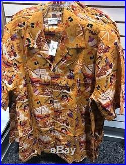 NEW Disney D23 Expo 2017 Pirates of the Caribbean SHAG Scoundrels Camp Shirt 2XL