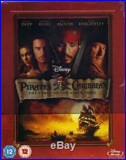 NEW Pirates of the Caribbean Curse of the Black Pearl SteelBook Blu-ray UK Zavvi