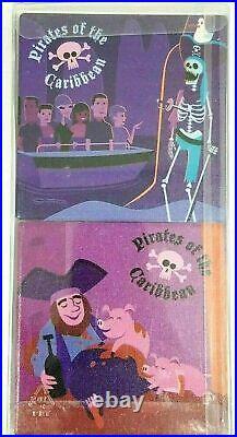 New Disney Parks Wonderground Shag Pirates Scoundrels and Skeletons Coaster Set