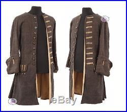 New! Pirates Of The Caribbean Captain Jack Sparrow Coat All Sizes Av