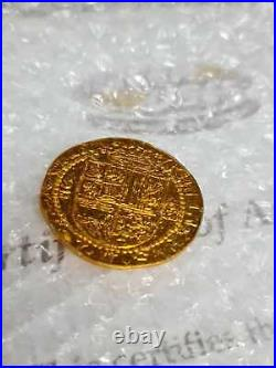 Original Prop Coin Pirates Of The Caribbean Rare Used DISNEY WITH CERTIFICATE