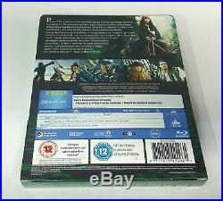 PIRATES OF THE CARIBBEAN DEAD MAN'S CHEST Blu-ray STEELBOOK ZAVVI REGION FREE