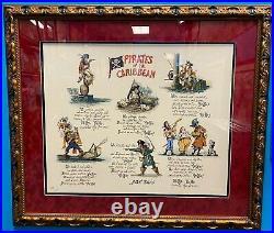 Pirate Doggerel Serigraph Signed by MARC DAVIS Walt Disney Imagineering 1994 150